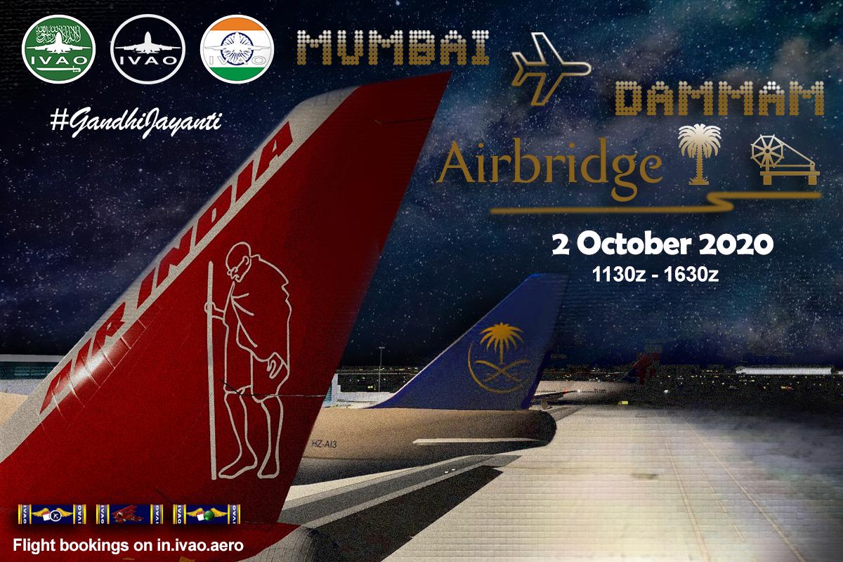 [HQ + IN + SA] MUMBAI - DAMMAM AIRBRIDGE